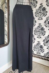 Ellen Tracy sexy full length black skirt